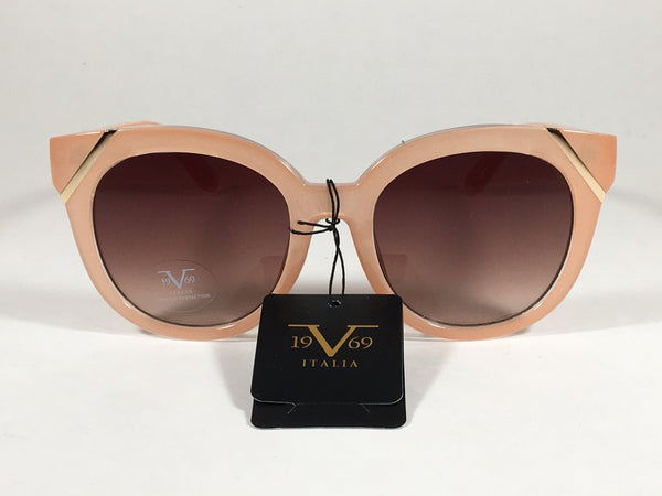 93be01d9381a ... Versace 19V69 Italia Elena Cat Eye Sunglasses Nude Gold Plastic Frame  Brown Gradient Lens - Sunglasses ...