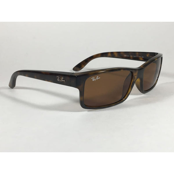 c8156a43a1 ... Ray-Ban Active Rectangle Sunglasses Brown Havana Tortoise Nylon Frame  Brown Lens Rb4151 710 ...