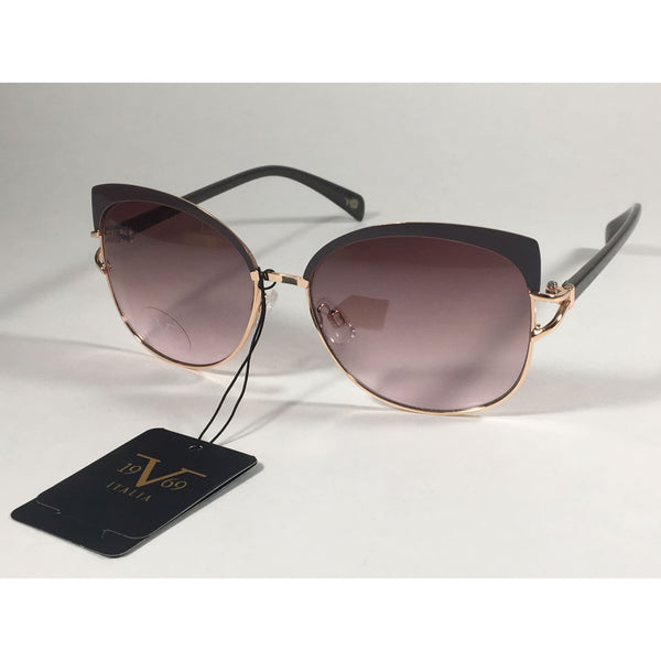 5ea30b392ea7 Versace 19V69 Italia Arianna Butterfly Sunglasses Brown With Rose Gold  Metal With Brown Rose Lens