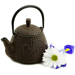 The Butterfly Basket Cast Iron Teapot