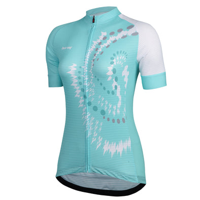 Womens Cycling Jerseys with Short Sleeves with Three Pockets