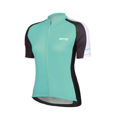 Womens Bike Short Sleeves Jersey with Three Pockets