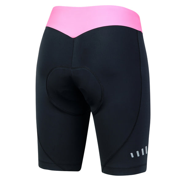 Beroy Womens Cycling Shorts With 3D Chamois Padding- Pink