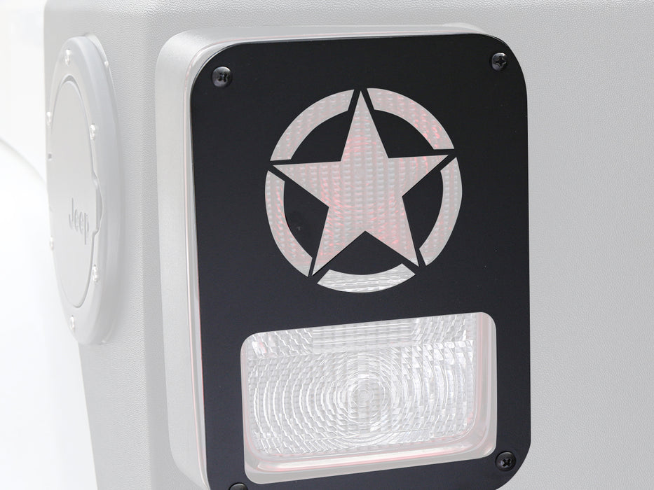 Hooke Road Opar Five Star Taillight Light Guard Cover for 2007-2018 Jeep JK u-Box 2