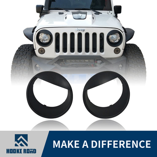 Hooke Road Opar Black Angry Bird Headlight Cover Clip-in Bezels for Jeep JK u-Box 1