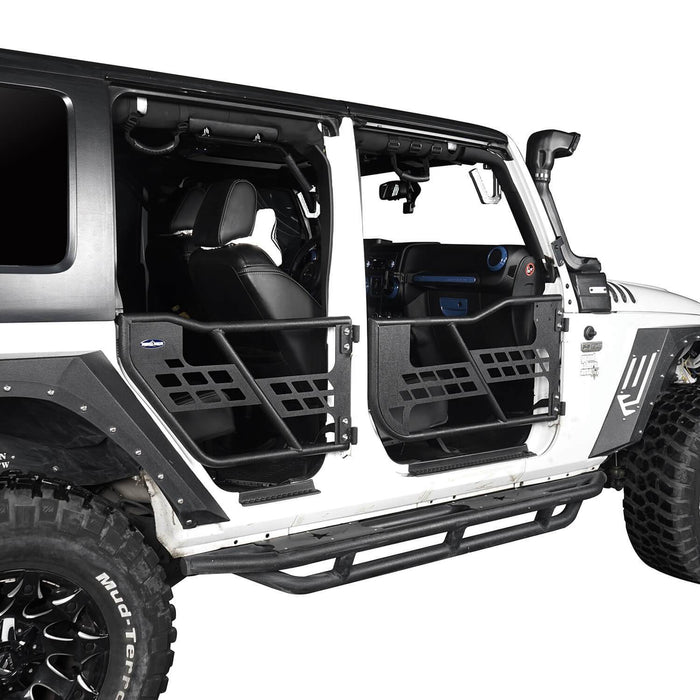 Hooke Road 4 Door Tubular Doors Half Doors for Jeep Wrangler JK 2007-2018 u-Box offroad 3