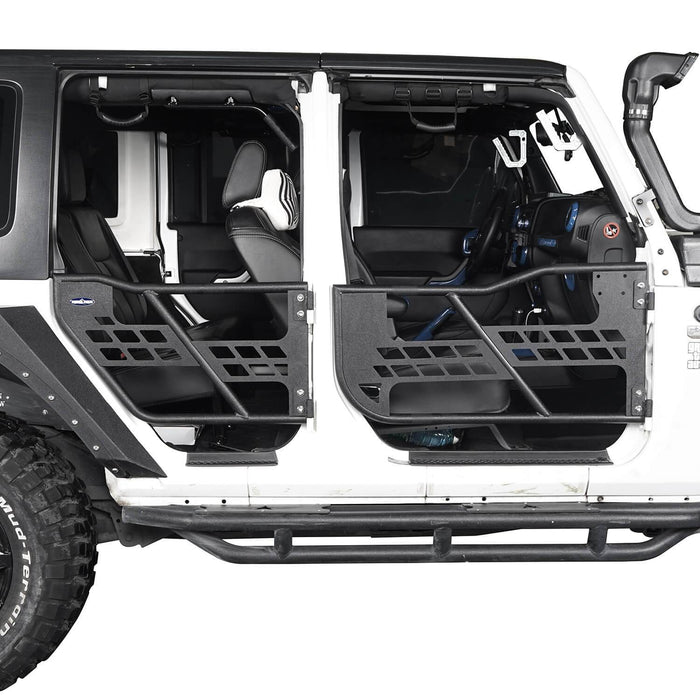 Hooke Road 4 Door Tubular Doors Half Doors for Jeep Wrangler JK 2007-2018 BXG136 u-Box offroad 4