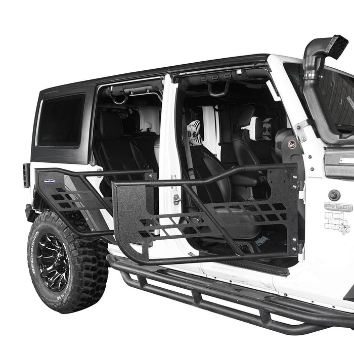 Hooke Road 4 Door Tubular Doors Half Doors for Jeep Wrangler JK 2007-2018 BXG136 u-Box offroad 5