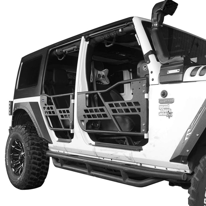 Hooke Road 4 Door Tubular Doors Half Doors for Jeep Wrangler JK 2007-2018 BXG136 u-Box offroad 6