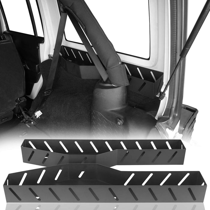 4-Door Steel Wheel Well Bins Organizer Mount Bracket(07-18 Jeep Wrangler JK)