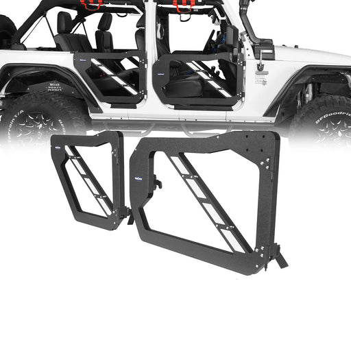 Hooke Road® Trail Doors Half Doors w/Mirrors(07-18 Jeep Wrangler JK 4-Door)