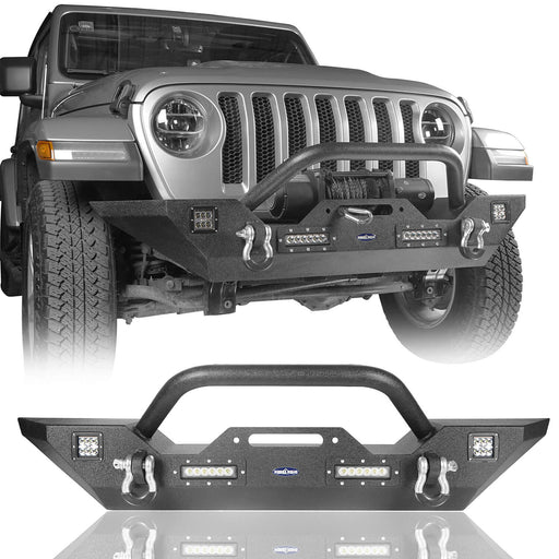 Hooke Road Different Trail Front Bumper w/Winch Plate for Jeep Wrangler JL 2018-2019 BXG543 Jeep JL  Accessories 2