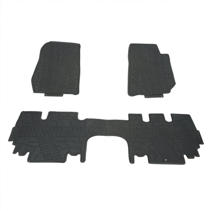 Hooke Road Opar All Weather Front & Rear Floor Mats for 2011-2018 Jeep u-Box 2