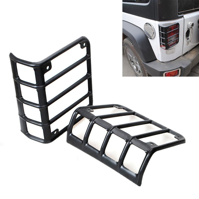 Car Taillight Light Guard Cover for 2018 Jeep Wrangler JL Sports Pair Tablet log