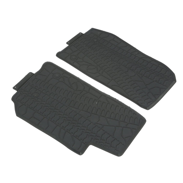 Hooke Road Opar All Weather Front & Rear Floor Mats for 2011-2018 Jeep u-Box 6