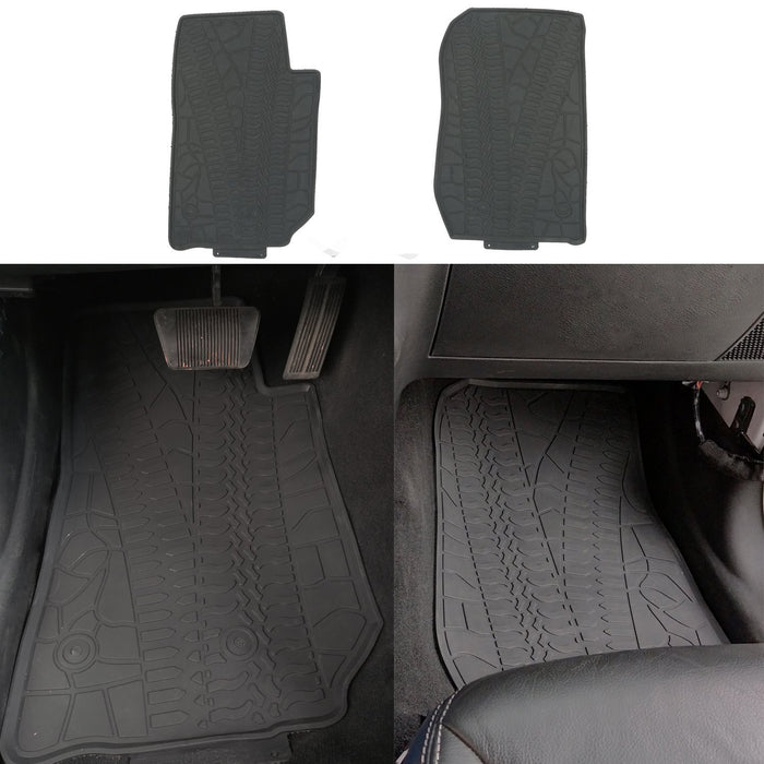 Hooke Road Opar All Weather Front & Rear Floor Mats for 2011-2018 Jeep u-Box 3