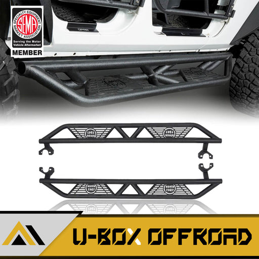 BLADE Side Steps Rocker Guard Nerf Bars(07-18 Jeep Wrangler JK JKU 4 Door)