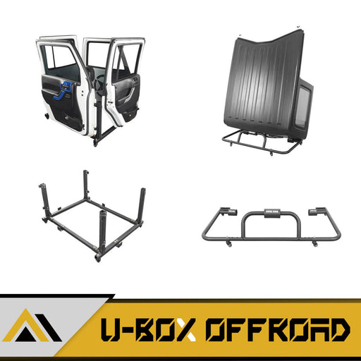 Door Rack & HardTop Carrier Storage Cart Combo(07-21 Jeep Wrangler JK JL)