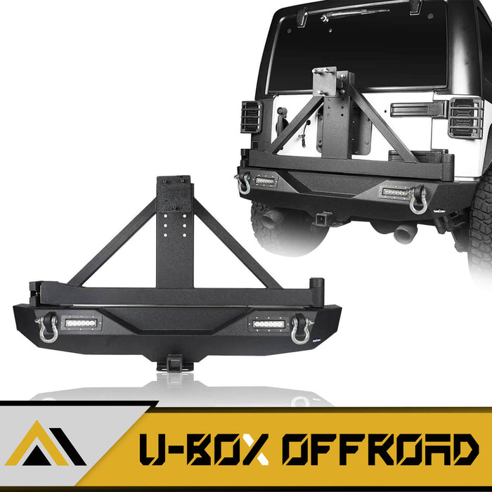 "JK Explorer Rear Bumper w/Tire Carrier & 2"" Hitch Receiver(07-18 Jeep Wrangler JK)"