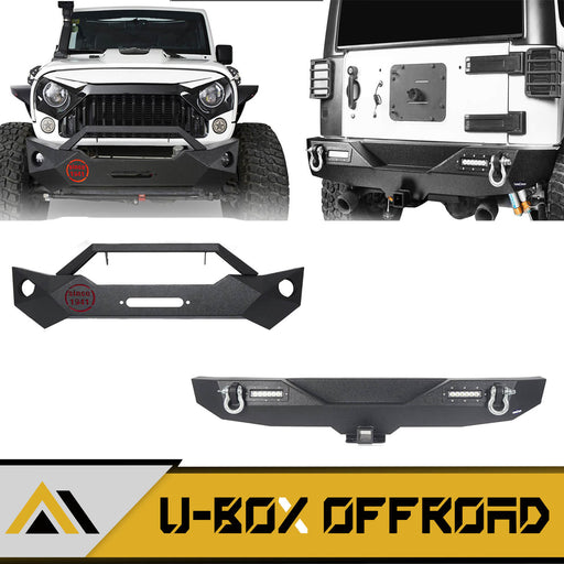 Rock Crawler Stubby Front Bumper & Different Trail Rear Bumper Combo(07-18 Jeep Wrangler JK JKU)