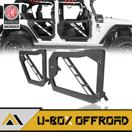 Trail Doors Half Doors w/Mirrors(07-18 Jeep Wrangler JK 4-Door)
