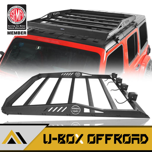 Hard Top Roof Rack Cargo Carrier Basket(18-21 Jeep Wrangler JL 4 Doors)