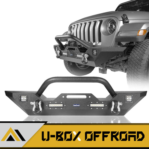 Different Trail Front Bumper w/Winch Plate Mid Width Bumper(18-21 Jeep Wrangler JL)