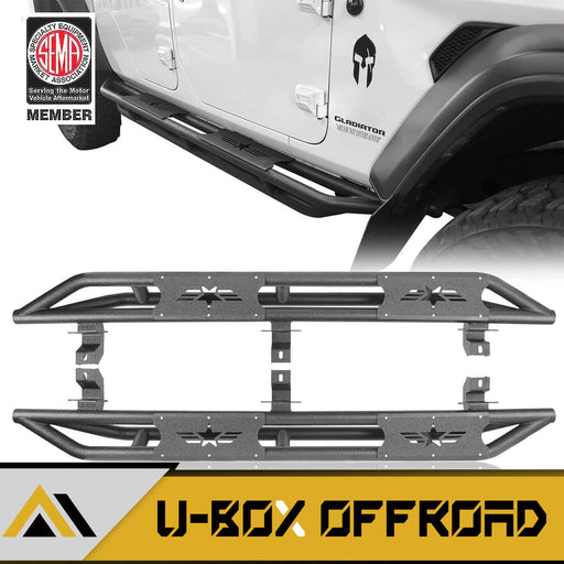 Star Side Step Tubular Running Boards(20-21 Jeep Gladiator JT)