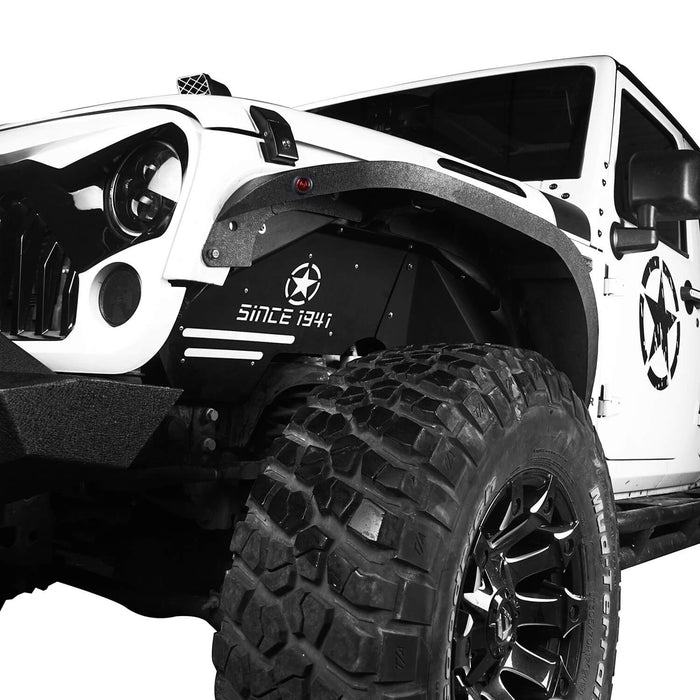 Hooke Road Opar Jeep JK Front Inner Fender Liners w/Since 1941 Logo for 2007-2018 Jeep Wrangler JK u-Box 3