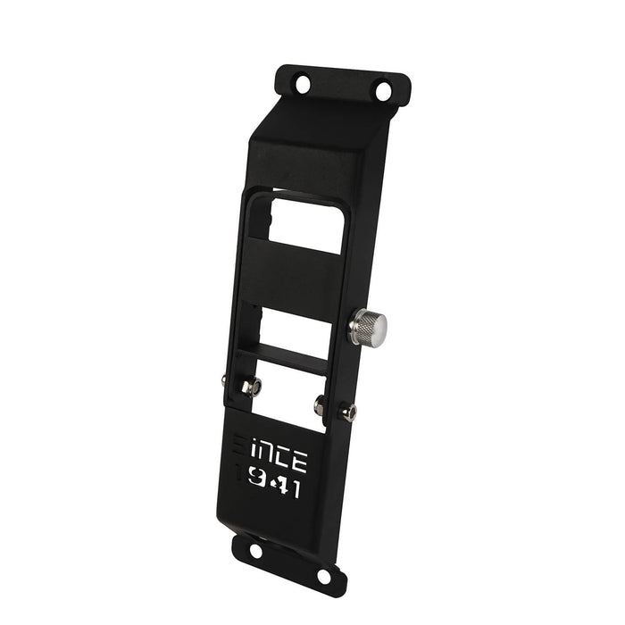 "Hooke Road Opar Matte Black Metal Folding Door Hinge Steps w/ ""Since 1941"" for 2007-2018 Jeep Wrangler JK u-Box 7"