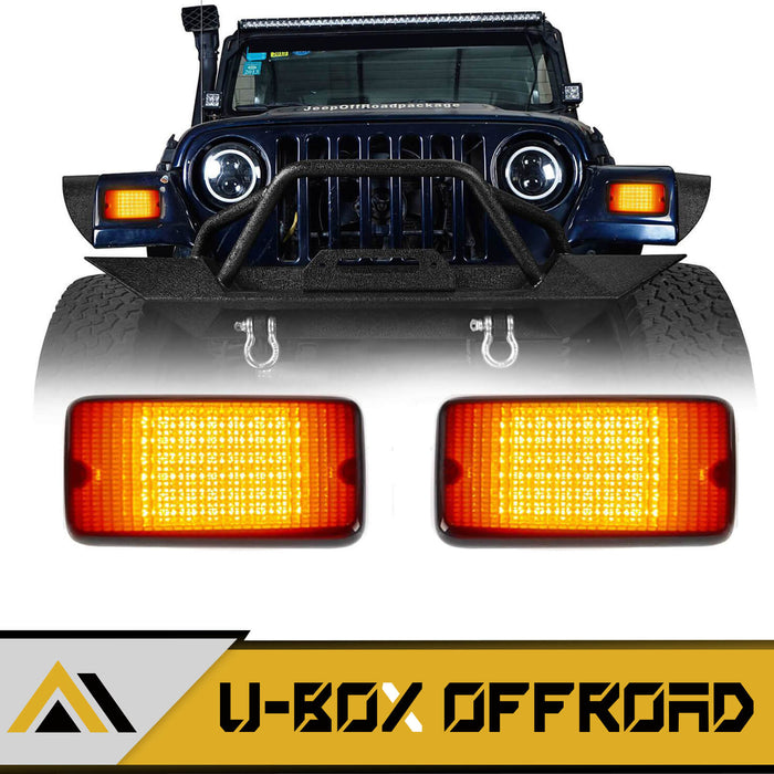 Amber/White Turn Signals 12V Upgraded version(97-06 Jeep Wrangler TJ)