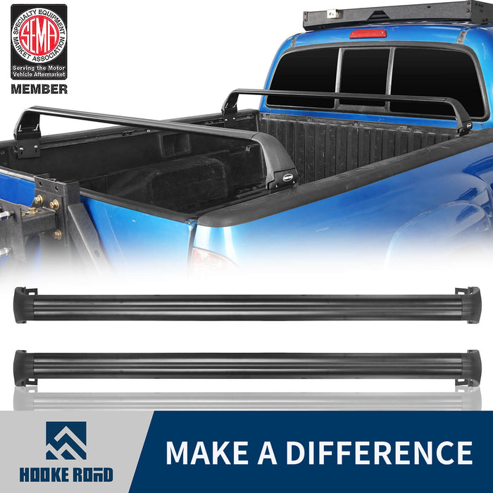 Hooke Road® Bed Rack Bike Rack Crossbar Rail Kayaks Load Cargo Carrier(05-21 Toyota Tacoma 2nd & 3rd Gen)