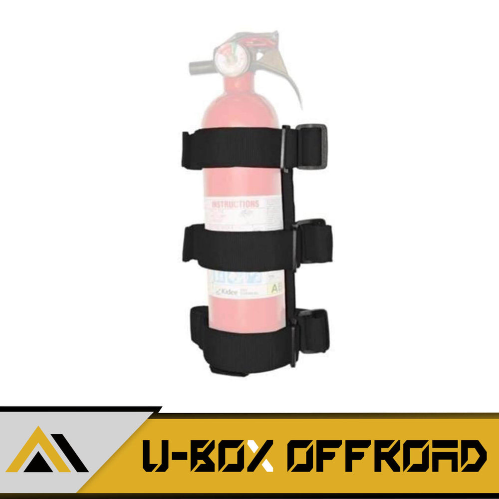 Black Roll Bar Fire Extinguisher Holder(97-20 Jeep Wrangler JK TJ JL)