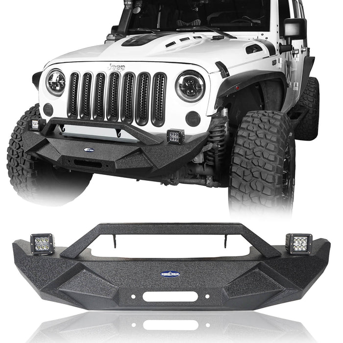 Hooke Road Blade Front Bumper and Different Trail Rear Bumper Combo for 2007-2018 Jeep Wrangler JK Jeep JK Front and Rear Bumper Combo u-Box Offroad 4