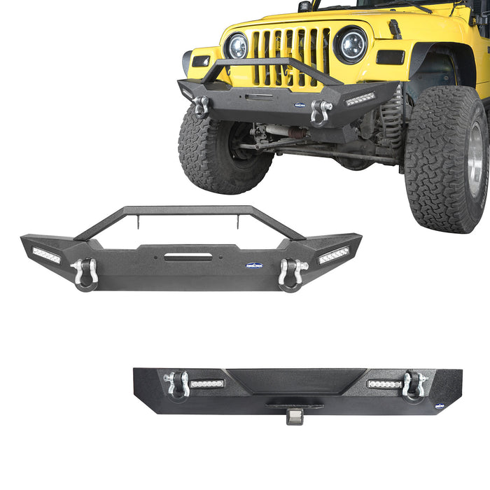 Stubby Front Bumper & Different Trail Rear Bumper Combo(87-06 Jeep Wrangler TJ YJ)