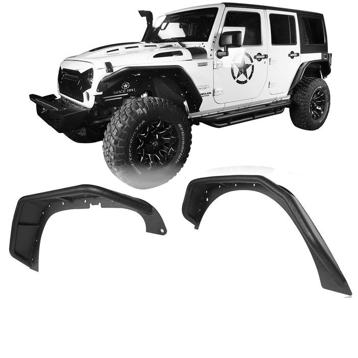 Hooke Road Opar Flux Tubular Fender Flares For Jeep Wrangler JK 2007-2018 Jeep JK Parts BXG089 u-Box offroad 2