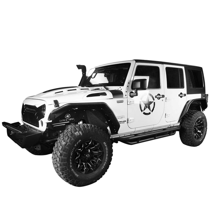 Hooke Road Opar Flux Tubular Fender Flares For Jeep Wrangler JK 2007-2018 Jeep JK Parts BXG089 u-Box offroad 3