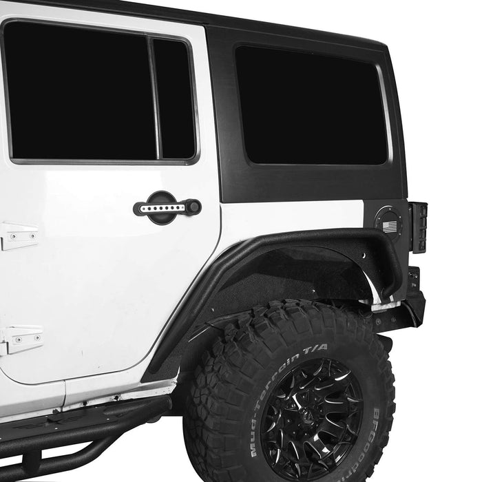 Hooke Road Opar Flux Tubular Fender Flares For Jeep Wrangler JK 2007-2018 Jeep JK Parts BXG089 u-Box offroad 5