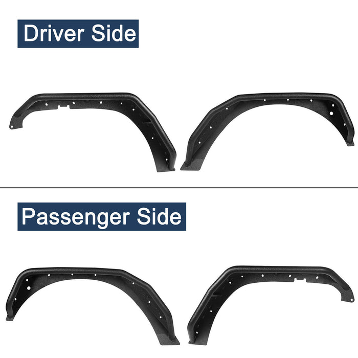 Hooke Road Opar Flux Tubular Fender Flares For Jeep Wrangler JK 2007-2018 Jeep JK Parts BXG089 u-Box offroad 9