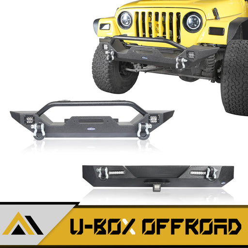 Different Trail Mid Width Front Bumper & Rear Bumper Combo(87-06 Jeep Wrangler TJ YJ)