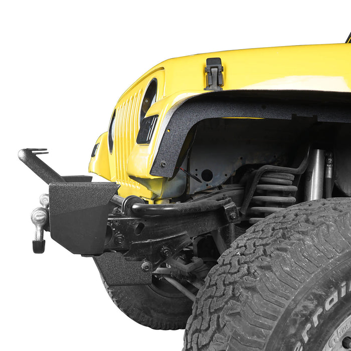 Hooke Road Jeep TJ bumper Different Trail Front Bumper w/Winch Plate for Jeep Wrangler TJ YJ 1987-2006 6