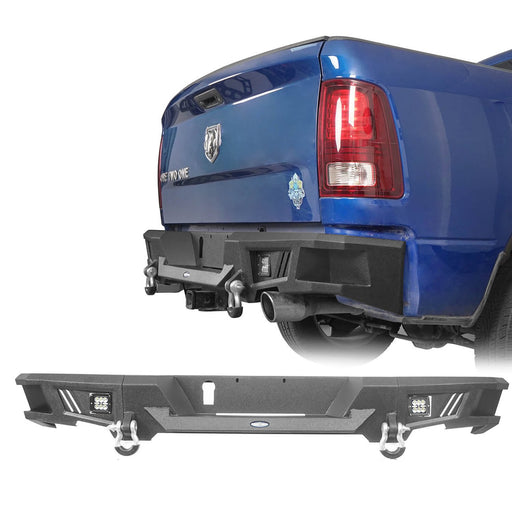 Durable Rear Bumper w/LED Lights(09-18 Dodge Ram 1500)