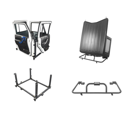Hooke Road® Door Rack & HardTop Carrier Storage Cart Combo(07-20 Jeep Wrangler JK JL)
