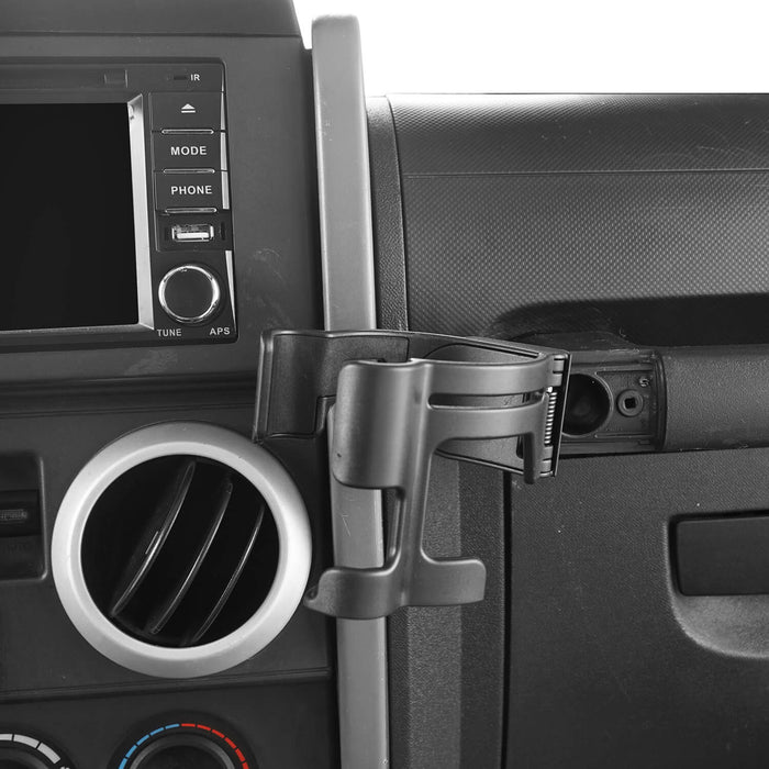 Hooke Road® Phone Mount Bracket Multi-Function Drink Cup Holder(Jeep Wrangler JK 07-10)
