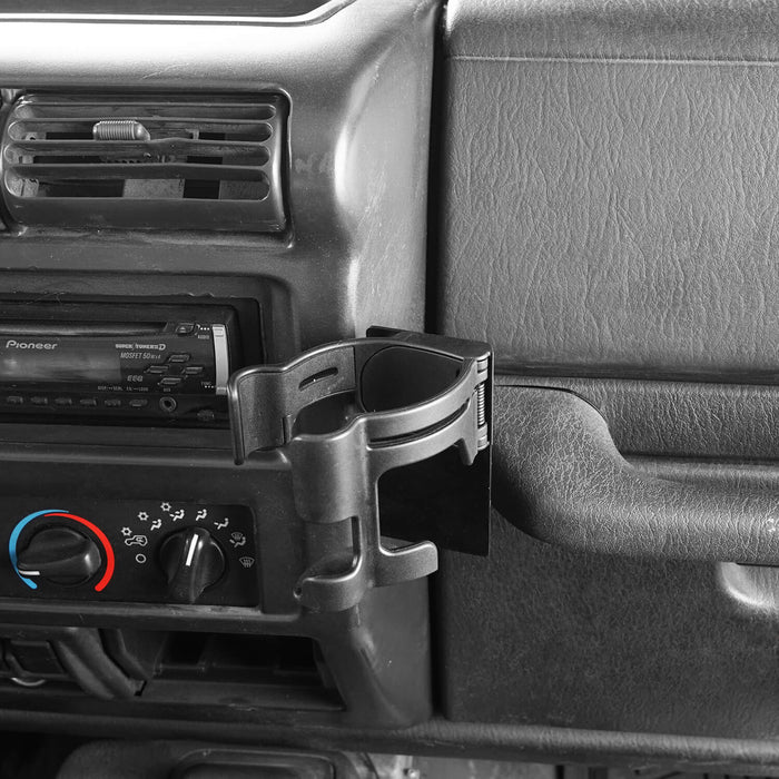 Hooke Road Drink Cup Holder Cell Phone Mount Bracket for Jeep Wrangler TJ 1997-2006 MMR1785 u-Box offroad 4