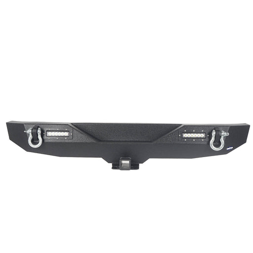 Hooke Road Different Trail Rear Bumper w/Hitch Receiver(07-18 Jeep Wrangler JK)