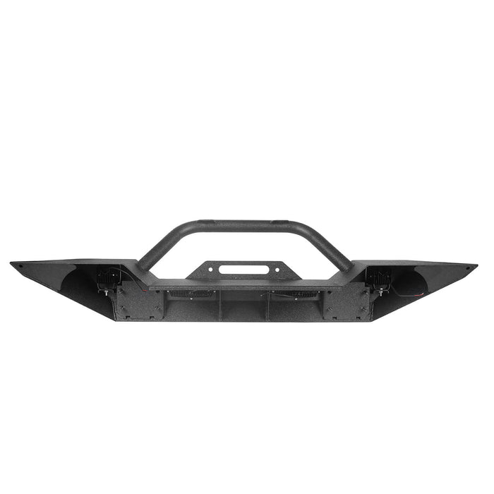 Hooke Road® Different Trail Mid Width Front Bumper w/Winch Plate(07-18 Jeep Wrangler JK)