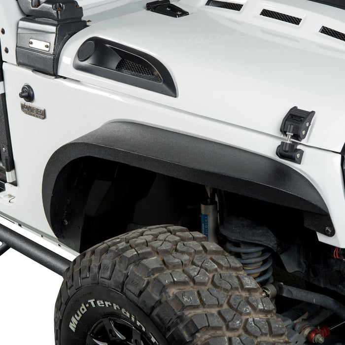 Hooke Road Jeep Wrangler JK Front And Rear Fender Flares for Jeep Wrangler JK 2007-2018 BXG134 u-Box offroad 3