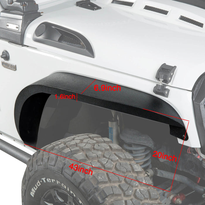 Hooke Road Jeep Wrangler JK Front And Rear Fender Flares for Jeep Wrangler JK 2007-2018 BXG134 u-Box offroad 4