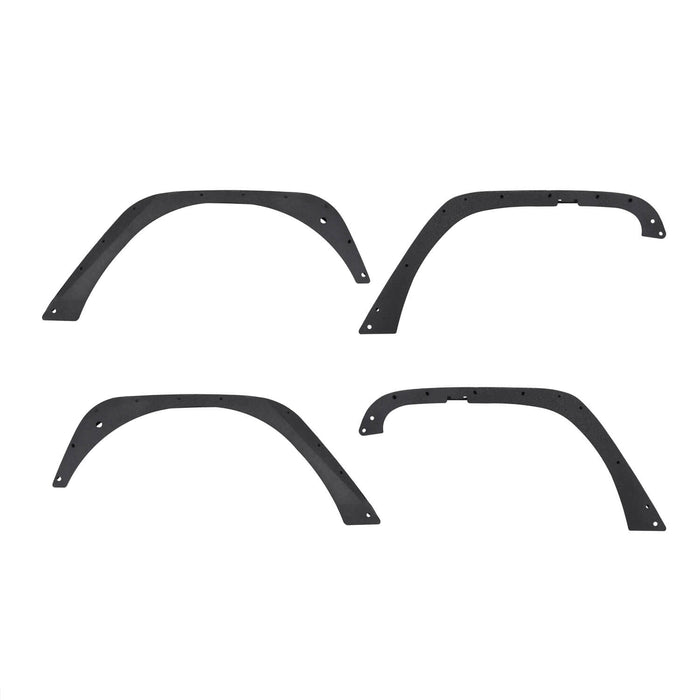 Hooke Road Jeep Wrangler JK Front And Rear Fender Flares for Jeep Wrangler JK 2007-2018 BXG134 u-Box offroad 6